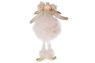 Підвісний декор Лялечка в хутряній спідниці, 18см, колір - бежевий BonaDi 884-219