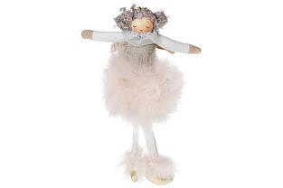 Підвісний декор Лялечка в хутряній спідниці, 18см, колір - бежевий BonaDi 884-220