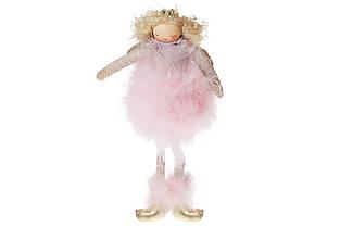 Підвісний декор Лялечка в хутряній спідниці, 18см, колір - рожевий BonaDi 884-221