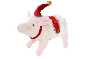 М'яка новорічна іграшка Свинка, 26см BonaDi 778-248