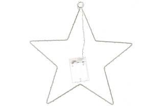 Светящийся декор Звезда, 136 мини-LED, диаметр - 30см, цвет - тёплый белый, постоянное свечение, адаптер на