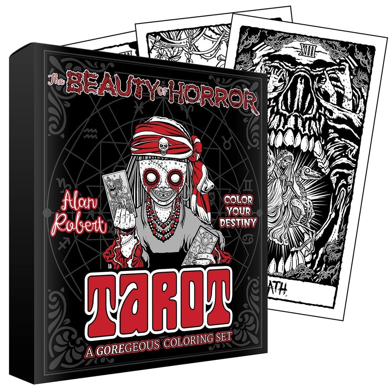 The Beauty of Horror: Color Your Destiny Tarot/ Красота ужаса: Таро Раскрась Свою Судьбу