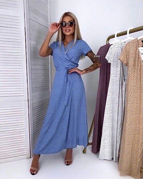 Жіноче плаття, суперсофт, р-р універсальний 42-46; 48-52 (блакитний)