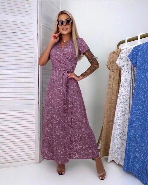 Женское платье, суперсофт, р-р универсальный 42-46; 48-52 (лаванда)
