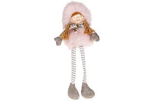 М'яка новорічна іграшка Сидяча дівчинка 35см BonaDi 822-178