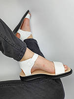 Жіночі білі босоніжки з натуральної шкіри. Розміри 36-41, фото 1