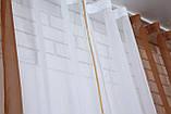 Кухонні шторки з підв'язками №17 Колір коричневий з білим 50-021, фото 3