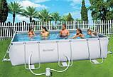 Каркасный прямоугольный бассейн BestWay 56251 (404*201*100 см), фото 2