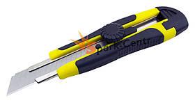 Нож строительный 18 мм LT с винтовым замком и прорезиненной рукояткой