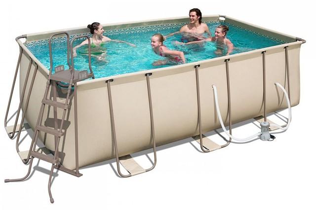 Каркасный прямоугольный бассейн BestWay 56456/56241 (412x201x122 см)