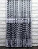 """Тюль (3х2,5м) фатин з вишивкою """"Преміум """", колір білий. Код 462т 40-113, фото 2"""