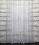 """Тюль (3х2,5м) фатин з вишивкою """"Преміум """", колір білий. Код 462т 40-113, фото 4"""