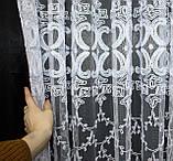 """Тюль (3х2,5м) фатин з вишивкою """"Преміум """", колір білий. Код 462т 40-113, фото 8"""