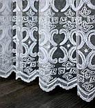 """Тюль (3х2,5м) фатин з вишивкою """"Преміум """", колір білий. Код 462т 40-113, фото 9"""