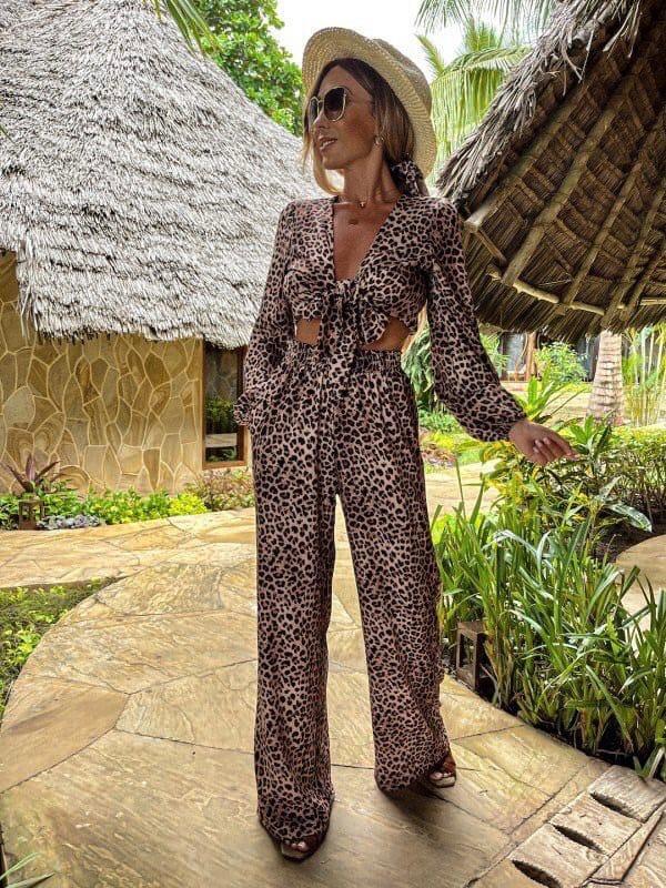 Жіночий костюм, суперсофт, р-р С-М; Л-ХЛ (леопард)