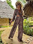 Женский костюм, суперсофт, р-р С-М; Л-ХЛ (леопард), фото 3