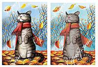 """Схема для вышивки бисером с кошкой """"Осень"""""""