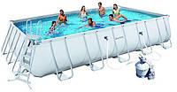 Каркасный прямоугольный бассейн BestWay 56257 (671x396x132 см) с песочным фильтром