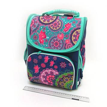 """Рюкзак коробка """"Візерунки"""" 34х26ч14,5 см, 3 відділення, ортопедична спинка, світловідбиваючі елементи"""