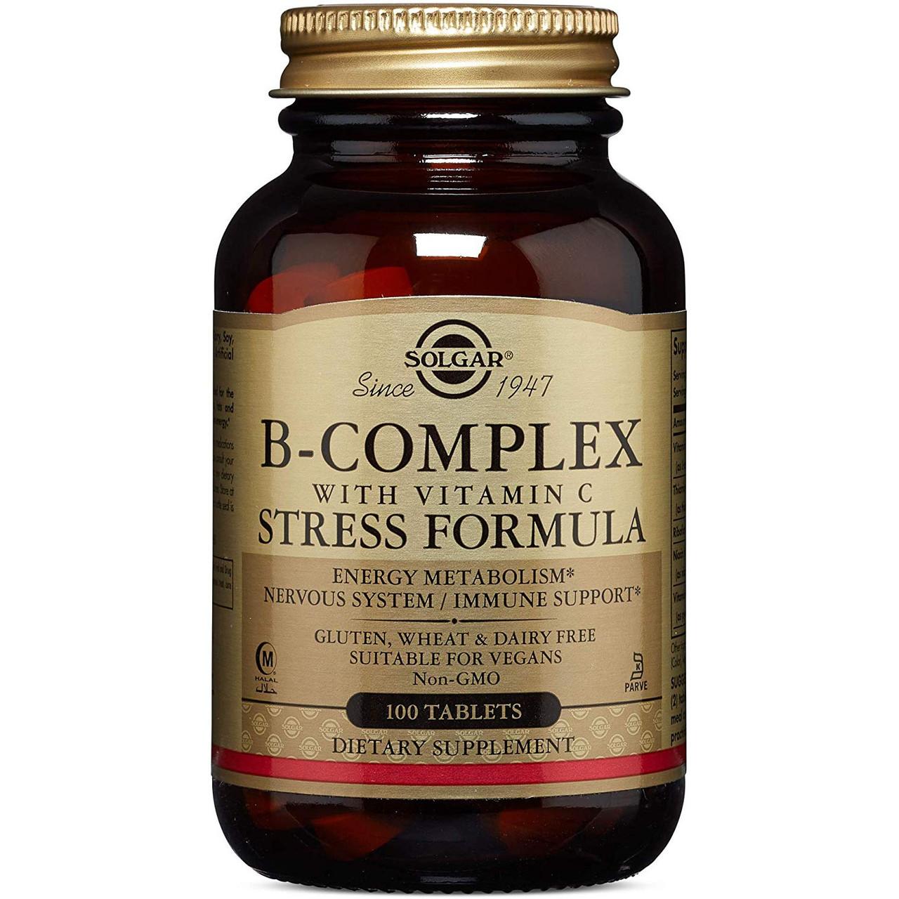 Витамины Солгар Стресс формула витамины для борьбы со стрессом США Solgar B-Complex Stress Formula USA 100 таб