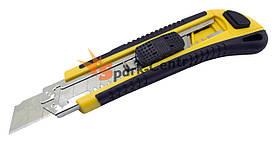 Нож строительный усиленный LT с прорезиненной рукояткой