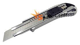 Нож строительный металлический 18 мм LT с прорезиненной рукояткой