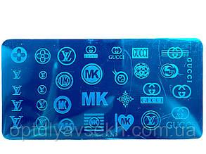 Диск для стемпинга металлический, маленький (12 см * 6 см) / бренды 017