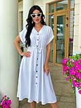 Женское летнее удлиненное платье на пуговицах ткань креп жатка размер: 42-44, 46-48,50-52, фото 2