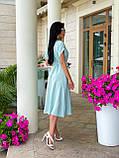 Женское летнее удлиненное платье на пуговицах ткань креп жатка размер: 42-44, 46-48,50-52, фото 4