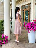 Женское летнее удлиненное платье на пуговицах ткань креп жатка размер: 42-44, 46-48,50-52, фото 6