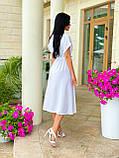 Женское летнее удлиненное платье на пуговицах ткань креп жатка размер: 42-44, 46-48,50-52, фото 9
