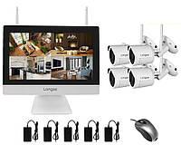 Комплект видеонаблюдения wifi 4 камеры Longse WIFI3604M4SW200 100516 TV, КОД: 1750189