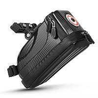 Сумка велосипедная West Biking 0707231 1,5L под седло с фонарём светодиодным Black 5073-15151 TR, КОД: 2402130