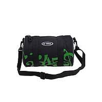 Сумка на раму с наплечным ремешком B-Soul Черно-зеленая TR, КОД: 2453120