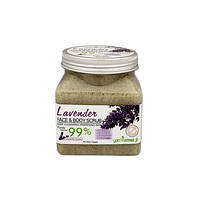 Сольовий скраб для обличчя і тіла Yan Namei Ji Lavender 99% 500г