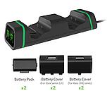 Док-станція з підсвічуванням DOBE + 2 акумулятора для геймпадів Xbox One / Series (S/X) (TYX-19006X), фото 2