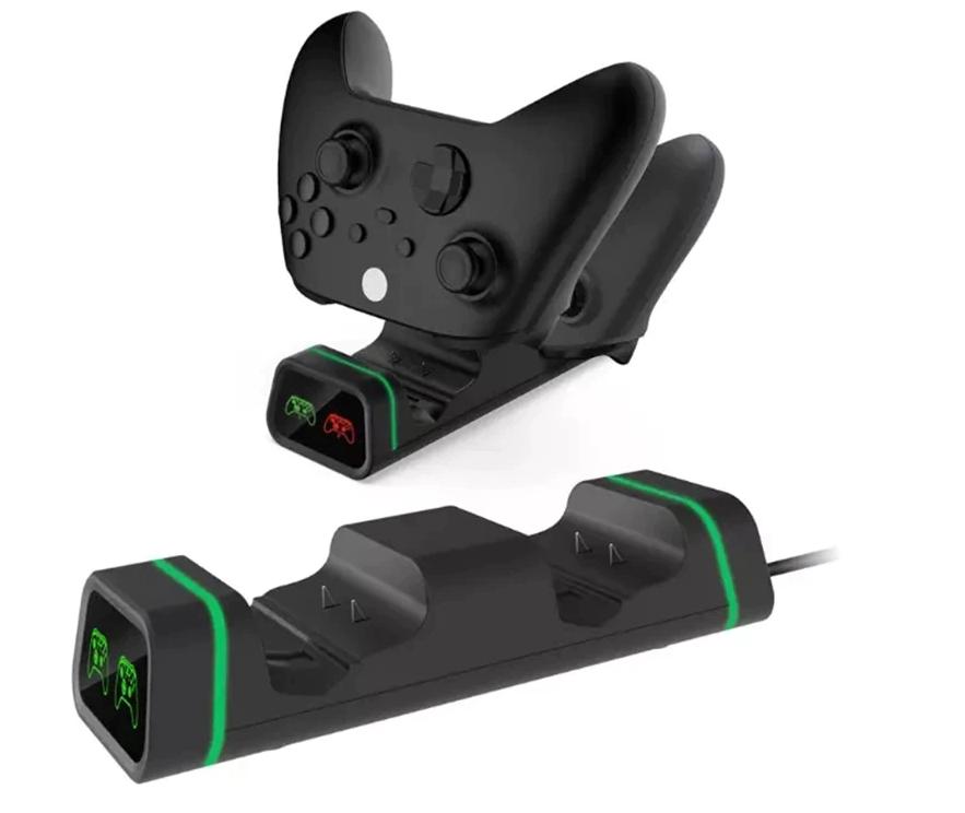 Док-станція з підсвічуванням DOBE + 2 акумулятора для геймпадів Xbox One / Series (S/X) (TYX-19006X)
