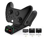Док-станція з підсвічуванням DOBE + 2 акумулятора для геймпадів Xbox One / Series (S/X) (TYX-19006X), фото 4