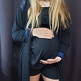 Комплект піжаму та халат для вагітних і годуючих, фото 2