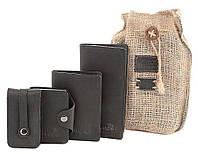 Набор из кожаных аксессуаров SHVIGEL Черный 10080 TV, КОД: 1402287