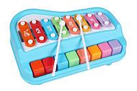 Ксилофон пианино Baoli 8 тонов с карточками Синий BAO-1502-B TV, КОД: 2433615