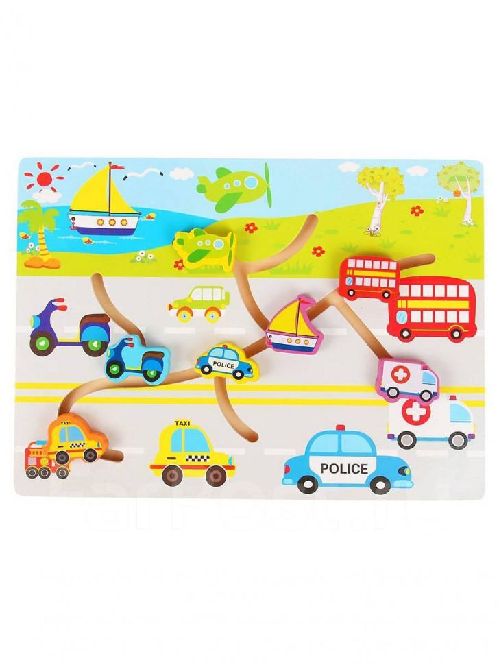 Дерев'яна іграшка лабіринт WD2729 (Транспорт)