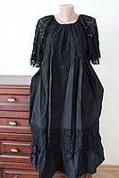 Плаття жіноче кружевне з коттоновими вставками