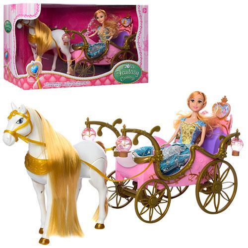 Карета лялькова з конячкою, що рухається 252A