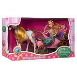 Карета лялькова з конячкою, що рухається 252A, фото 3