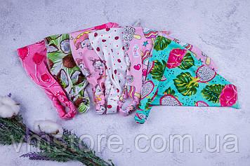 Косынка на резинке, детская, яркие, модные, трикотажные косыночки