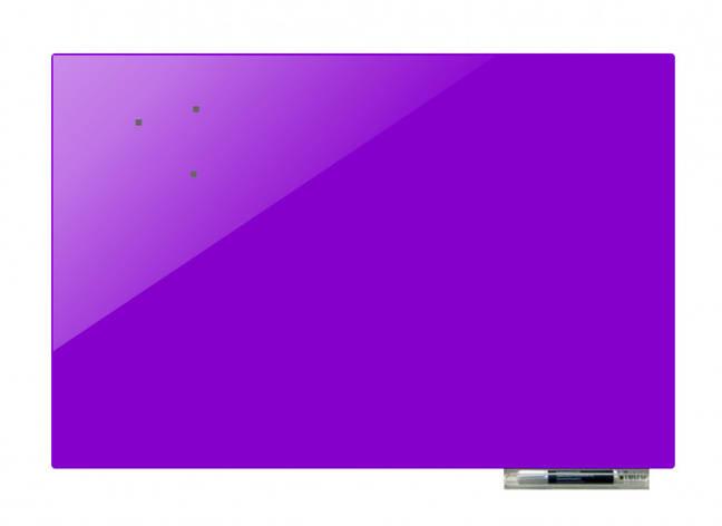 Доска магнитно-маркерная стекляная GL75150, 75x150 (Пурпурный                                                ), фото 2