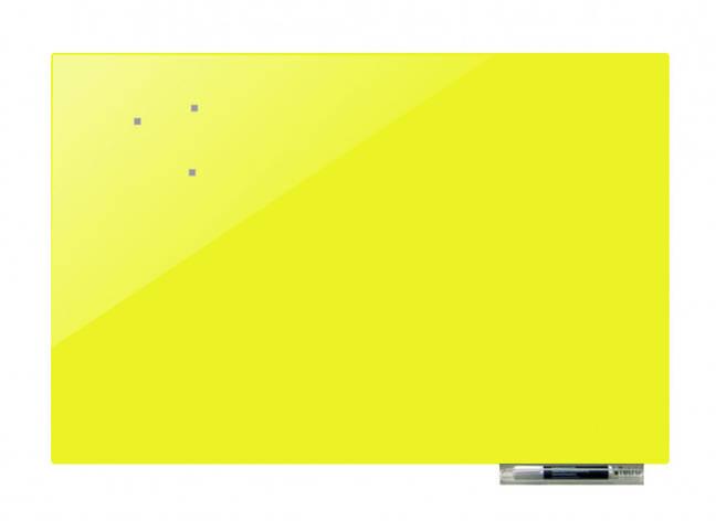 Дошка магнітно-маркерна скляні GL125125, 125x125 (Жовтий ), фото 2