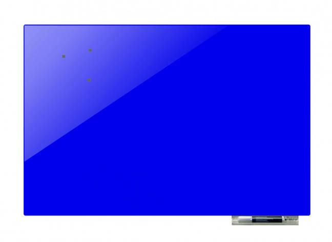 Дошка магнітно-маркерна скляні GL125125, 125x125 (Ультрамарин ), фото 2