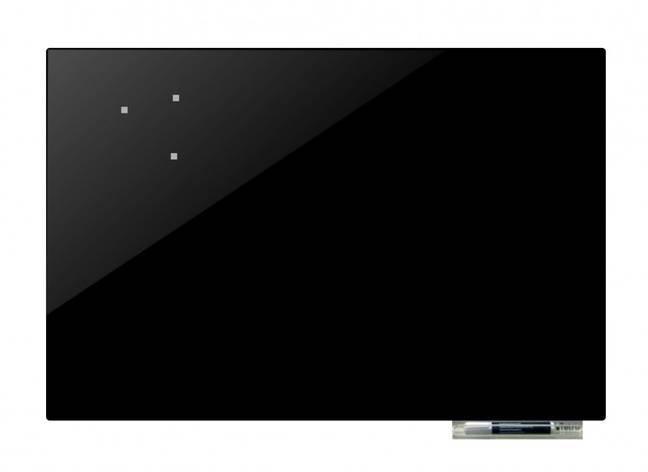 Дошка магнітно-маркерна скляні GL125125, 125x125 (Чорний ), фото 2